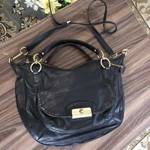 Coach Kristin Road Leather Crossbody Satchel